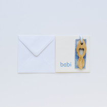 Card Lovespoon Baby Bachgen Back