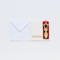 Lovespoon Birthday Card
