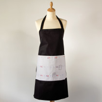 Apron with the Welsh alphabet