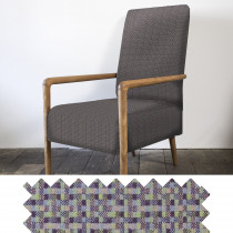 Speckle earth high back armchair - swatch