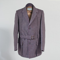 Semiplain aubergine Norfolk jacket
