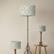 St Davids cross silver oval lampshades