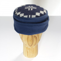 St Davids cross indigo fleece hat