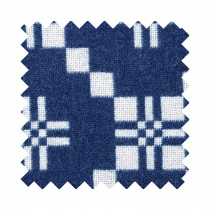 St Davids Cross indigo sample swatch