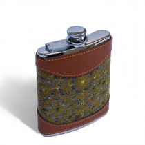 Vintage rose mustard 6oz hip flask