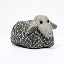 Vintage rose slate sheep doorstop