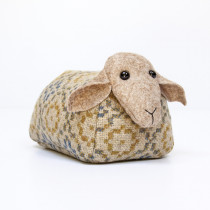 Vintage rose savanna sheep doorstop