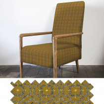 Vintage Rose mustard high back chair - swatch
