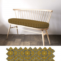 Vintage rose mustard loveseat - swatch