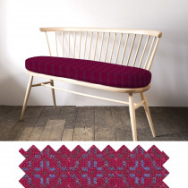 Vintage rose redberry loveseat - swatch