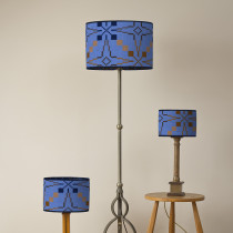 Vintage star blue oval lampshades