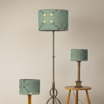 Vintage star mint oval lampshades