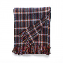 Windfall navy throw with fringes