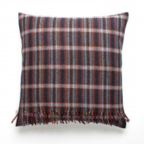 Windfall navy cushion with fringes