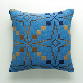 Vintage Star Cushion Blue
