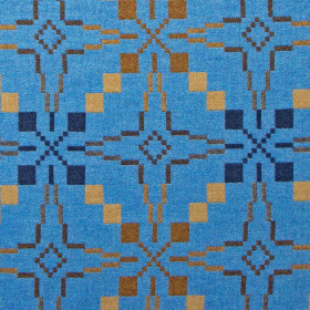 Vintage Star fabric 210cm Blue