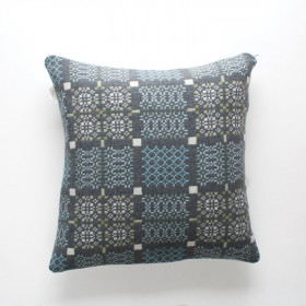 Knot-Garden Cushion Bluestone