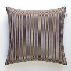 Block Cushion Aubergine