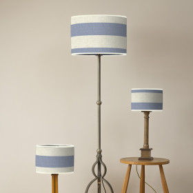 Broadstripe Oval lampshade Blue