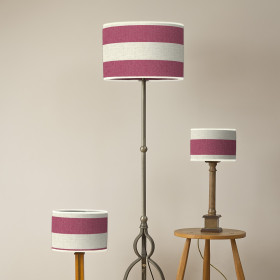 Broadstripe Oval lampshade Red
