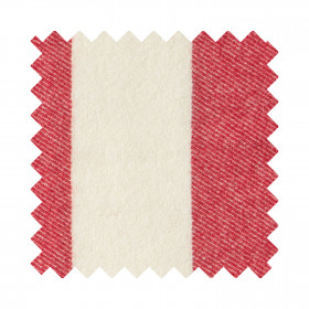 Broadstripe Sample Swatch Red