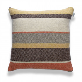 Clubstripe cushion Rust