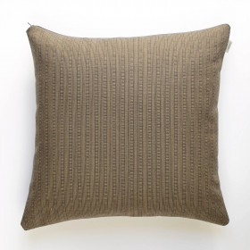 Cambrian wool log stripe Cushion Mocha