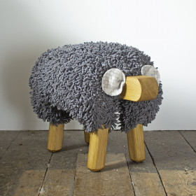 Ewe moo sheep foot stool Dark Grey