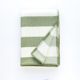 Broadstripe throw & blankets Green
