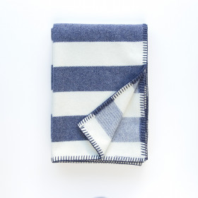 Broadstripe throw & blankets Indigo