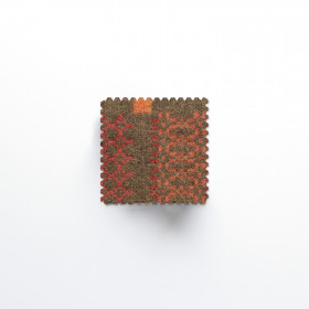 Knot Garden set of 6 Coasters Copper
