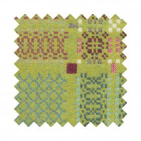 Knot Garden Sample Swatch Green