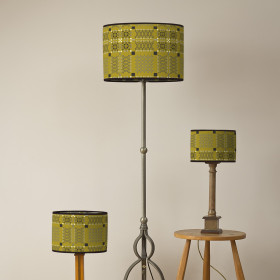 Knot Garden Oval lampshade Gorse