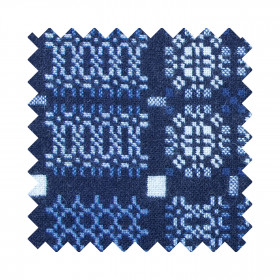 Knot Garden Sample Swatch Indigo