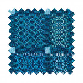 Knot Garden Sample Swatch Lagoon