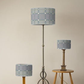 Knot Garden Oval lampshade Topaz