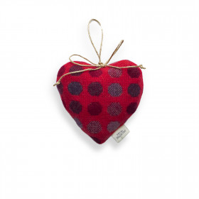 Mondo Large lavender heart Red Berry
