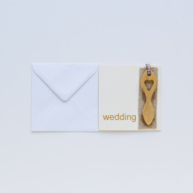 Card Lovespoon Wedding Any