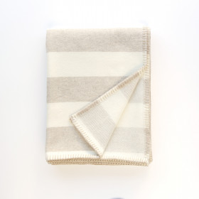 Broadstripe throw & blankets Oatmeal