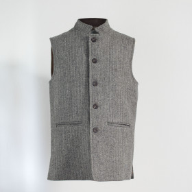 Nehru sleeveless jacket Stone