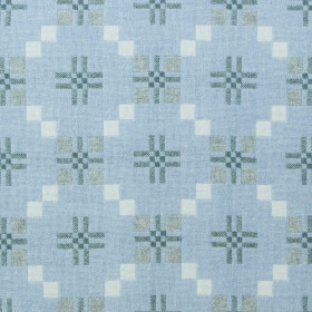 St Davids Cross fabric 270cm Bluestone