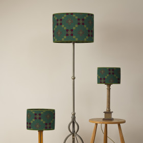 St Davids Cross Oval lampshade Pine