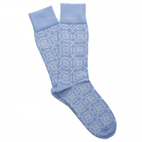 Corgi Cotton blend socks-Tapestri Babyblue