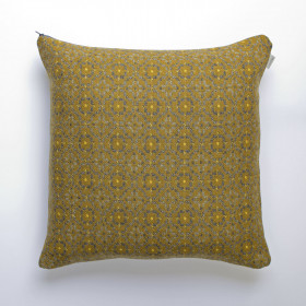 Vintage Rose Upholstery Cushion Mustard