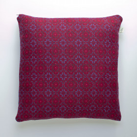 Vintage Rose Upholstery Cushion Red Berry