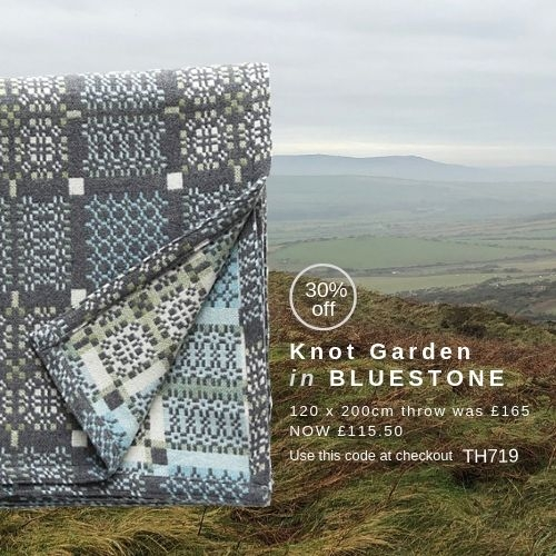 Knot Garden Bluestone Throw of the Month