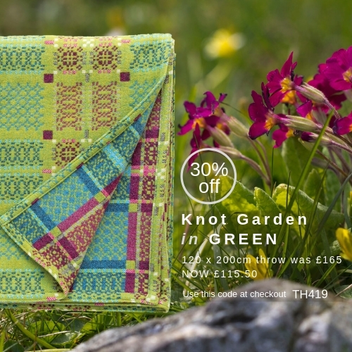 Knot Garden Green Throw of the Month