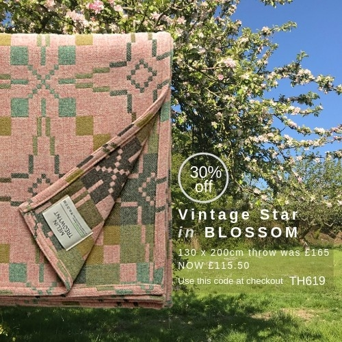 Vintage Star Blossom Throw of the Month